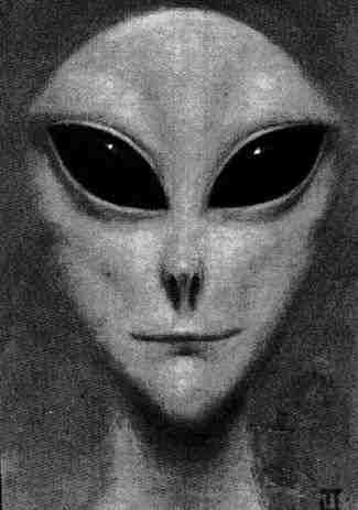 Real alien face